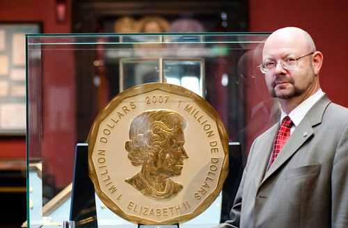 Аверс монеты 1 миллион долларов 2007 Канада
