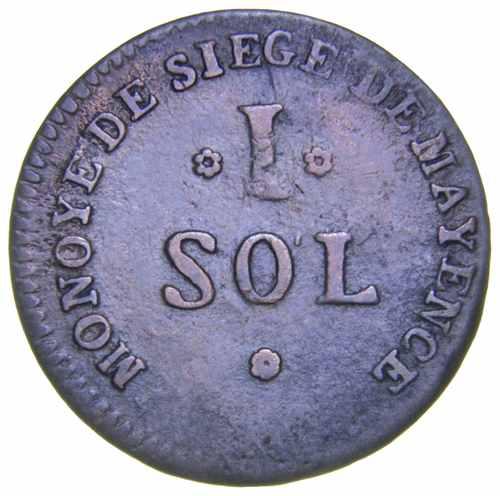 Майнцкая республика в составе Франции 1 соль 1793 года