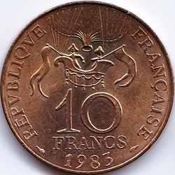 10 франков 1983 Воздушный шар