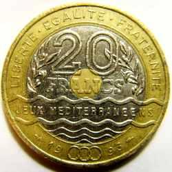 20 франков 1993 года Франция