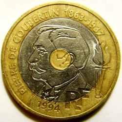 20 франков 1994 года Франция