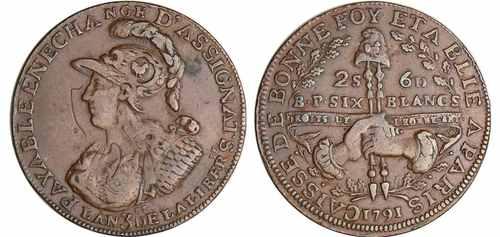 Редкая и дорогая монета 2 соль 6 денье 1791