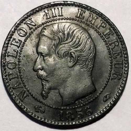 Реверс 5 сантимов 1856 года Франйия