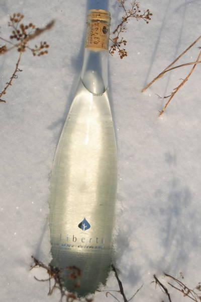 Шампанское из березового сока (прозрачная бутылка)