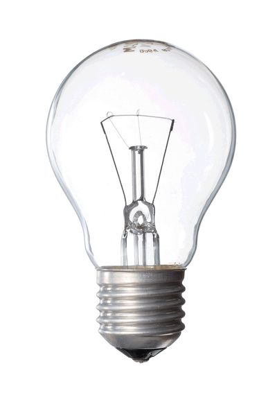 Обычная стеклянная лампочка