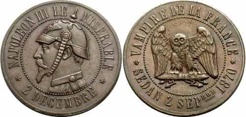 Еще один вариант сатирической медали Наполеона 3