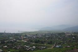 Фото Култука с высоты горного серпантина