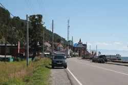 Фотография поселка Листвянка. Вид с озера Байкал